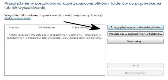 Przywracanie pojedynczych plików oraz z folderów